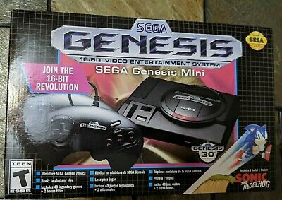 SEGA Genesis Mini Game System Console with 2 Controllers & 40+2 Games NEW