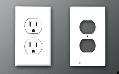 10 Pieces Receptacle Wall Plate Plastic Outlet Cover White NEW!
