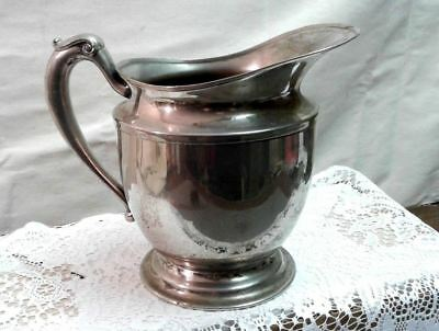 Keystone Water or Ice Pitcher Silver Plate on Copper Vintage