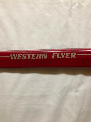 Western Flyer Bicycle Chain Guard Red /& Black Art Deco Fits 1937-1957 chainguard