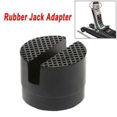 1*Car Rubber Slotted Rail Adapter Hydraulic Floor Jack Guard Protector Pad Frame