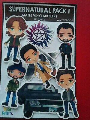 Supernatural  X 8 Pieces  Medium  Stickers