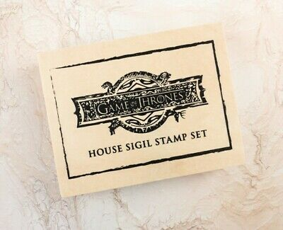 Game Of Thrones Wooden Box 5 House Sigil Stamp Set w Ink Pad HBO Exclusive NEW