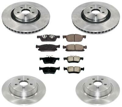 Fits for Volvo S80 99-05 W// 305MM Front Rotors Brake Pads Shoes /& Spring Kit
