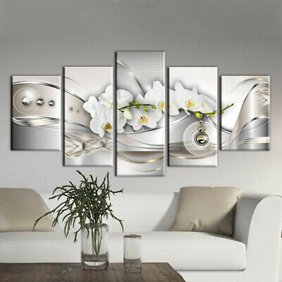 5X Modern Flower Canvas Oil Painting Picture Print Wall Art Home Office Decor AU