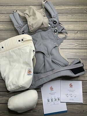 Ergobaby 360 Baby 4 Position Carrier GREY With Easy Snug Infant Insert