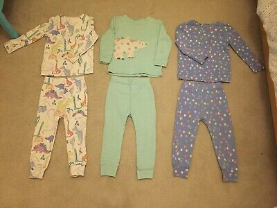 Next Girls Pyjamas 18-24 Months Set Of 3