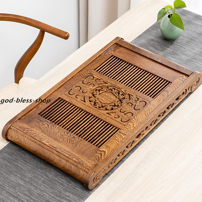 Wenge wood tea tray classical carved tea table with plastic layer 65cm*35cm tray