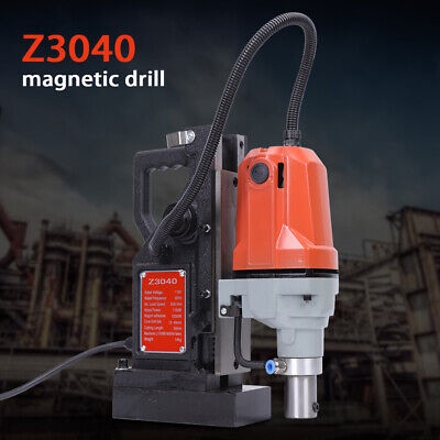 MD40 1100W Electric Magnetic Drill Press 50mm Boring 12,000 N Magnet Force 220V