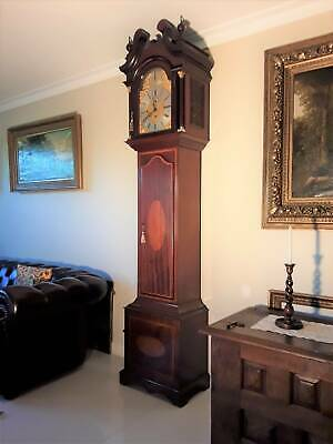 AN 8 DAY ANTIQUE LONGCASE [GRANDFATHER] CLOCK BY MAPLE & CO. of LONDON