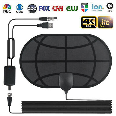 Digital TV 980 Mile Indoor Antenna Aerial Signal Amplified 4K HDTV HD Freeview