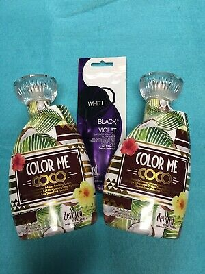 2020 Devoted Creations COLOR ME COCO Coconut Infused Tanning Lotion LOT OF 2