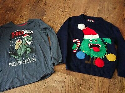 Boys Clothes Bundle Age 6-7 Years Light Up Christmas Jumper and tshirt
