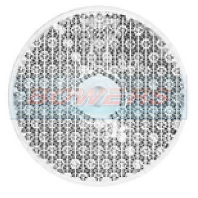 FRONT WHITE CLEAR ROUND SCREW ON REFLECTOR 60mm IVOR WILLIAMS TRAILER