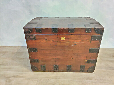Wood and Steel Silver Chest