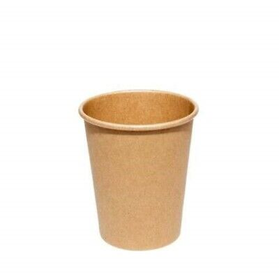 8oz Brown Coffee Paper Cup, (50-500 Pcs) Disposable Paper Cups for Hot Beverages