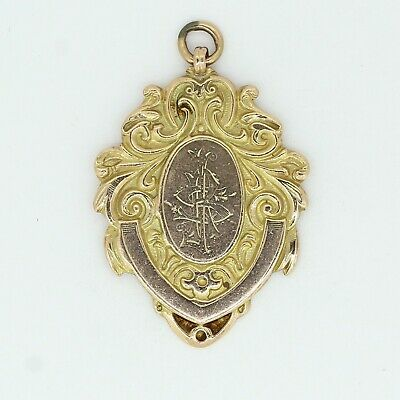 9ct Yellow Gold Engraved Medal, Fully Hallmarked 1914