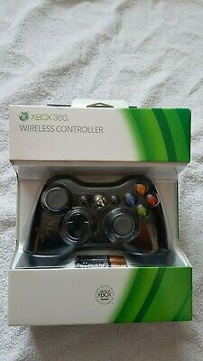 Official Microsoft Xbox 360 Wireless Controller Black Brand New With Batteries
