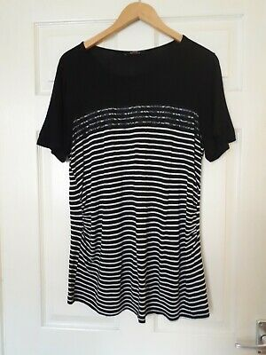 Maternity Top Size 16 George Striped