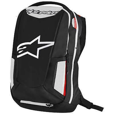 Alpinestars City Hunter Sac à Dos de Moto - Noir Blanc Rouge
