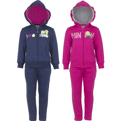 New Jogging Suit Set Leisure Sports Girl Minions Blue Pink 98 104 116 128 #171