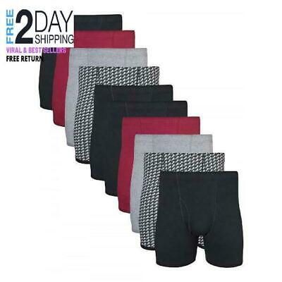 Gildan Men's Boxer Briefs With Covered Waistband, 10-Pack