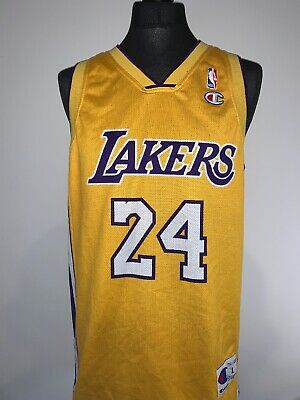 La Lakers 24 Kobe Bryant NBA Basketball Champion Vest Jersey Shirt Men's L Large