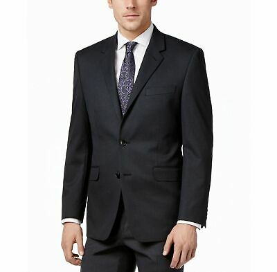 $369 Alfani Men's 46R Gray Classic Fit 2-Button Suit Jacket Blazer Sport Coat