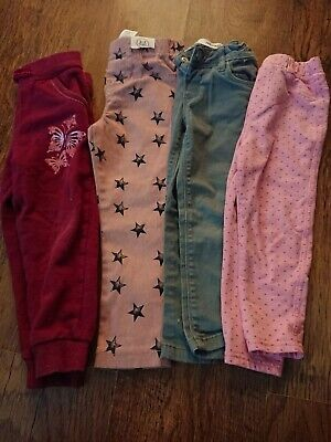 Girls Jeans Trousers Joggers Bundle Age 2-3 Years