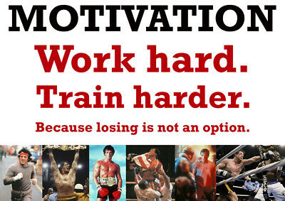 "Team GB 13 Motivational Quote Olympics /""Working Hard.Training Harder./"" Poster"