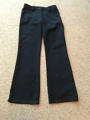 Next Girls Bootcut Trousers Navy Age 10