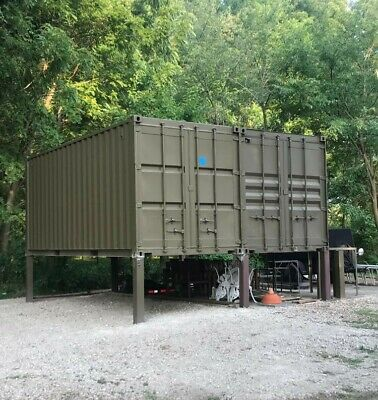 Cargo Shipping Container 20' with Steel Man Door, Wind & Water Tight, Painted