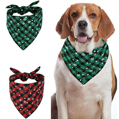 Pet Christmas Scarf Cat Dog Bandana Handkerchiefs Bibs Pet Grooming Costume UK