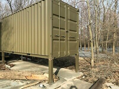 "Cargo Shipping Container High Cube 20' x 8' x 9'6"", Wind & Water Tight, Painted"