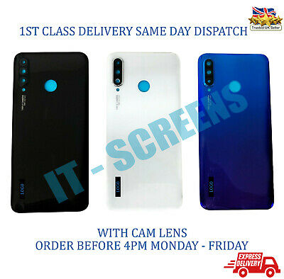 NEW Huawei P30 Lite Rear Glass Back Battery Cover With Adhesive & Camera Lens
