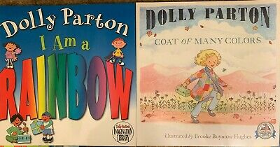 2 Dolly Parton Softcover Picture Bks I Am A Rainbow & Coat Of Many Colors