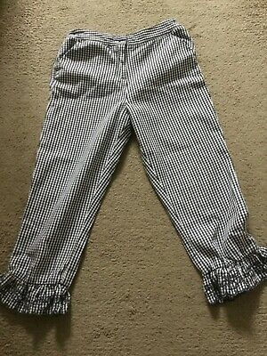 Bnwot Girls Next Checked Three Quarter Trousers Age 12 Years