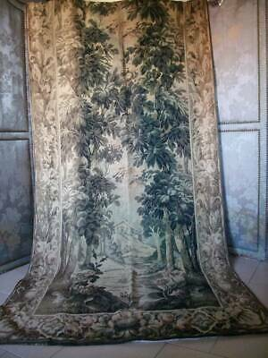 Antique  French  Antique French Chateau Tapestry Wall /Curtain c1889