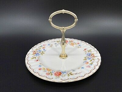 Royal Albert Jubilee Rose One Single Tier Cake Stand Bone China England