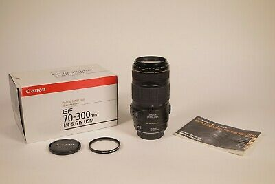 Canon EF 70-300mm F/4-5.6 IS USM Lens - Boxed, good condition
