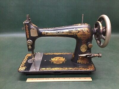 Beautiful Antique Sphinx Singer Sewing Machine Treadle Head Gold Ornate