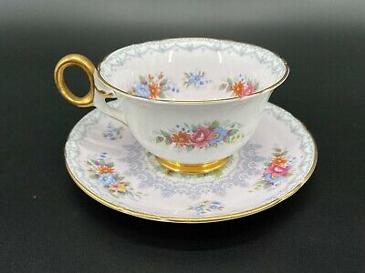 Shelley Crochet Tea Cup Saucer Set Fine Bone China England