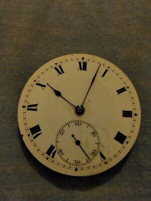 QUALITY SYREN ANTIQUE GENTS   POCKET WATCH MOVEMENT  ( spares or repair)