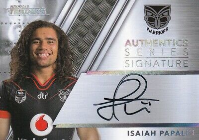 2019 Nrl Traders Authentic Signature Card - As15 Isaiah Papali'i Warriors - #078