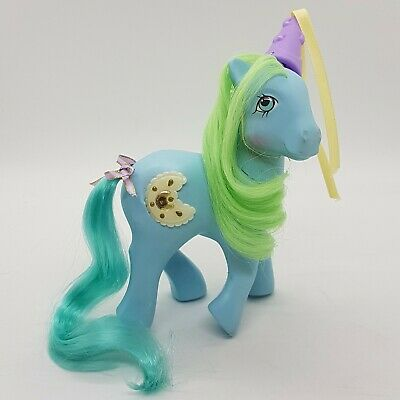 VTG My Little Pony Princess Royal Blue Rare UK Variant Glow In The Dark G1 1987