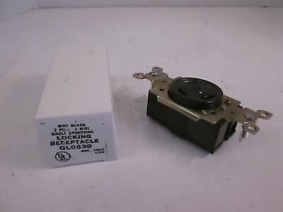 General Electric, GL0530 Single Locking Receptacle, 2 Pole, 3 Wire, New
