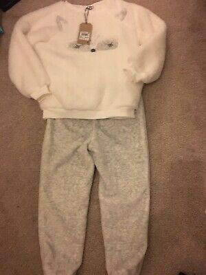 NEXT GIRLS Under The Stars CAT FLEECE  pyjamas Age 7 Yrs BNWT