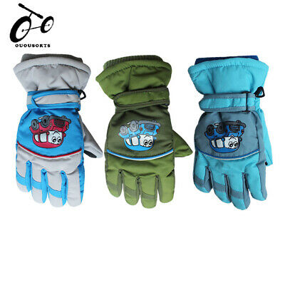 Kids Boys Girls Glove Waterproof Winter Warm Ski Snowboard Gloves Outdoor Sports