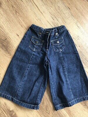 Denim Culottes Age 5 Girls Funky Wide Jeans Cropped Trousers