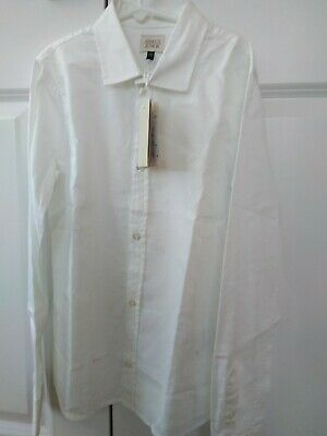 Armani Junior Boys White Holiday Shirt, Size 12Y. New With Tags!!